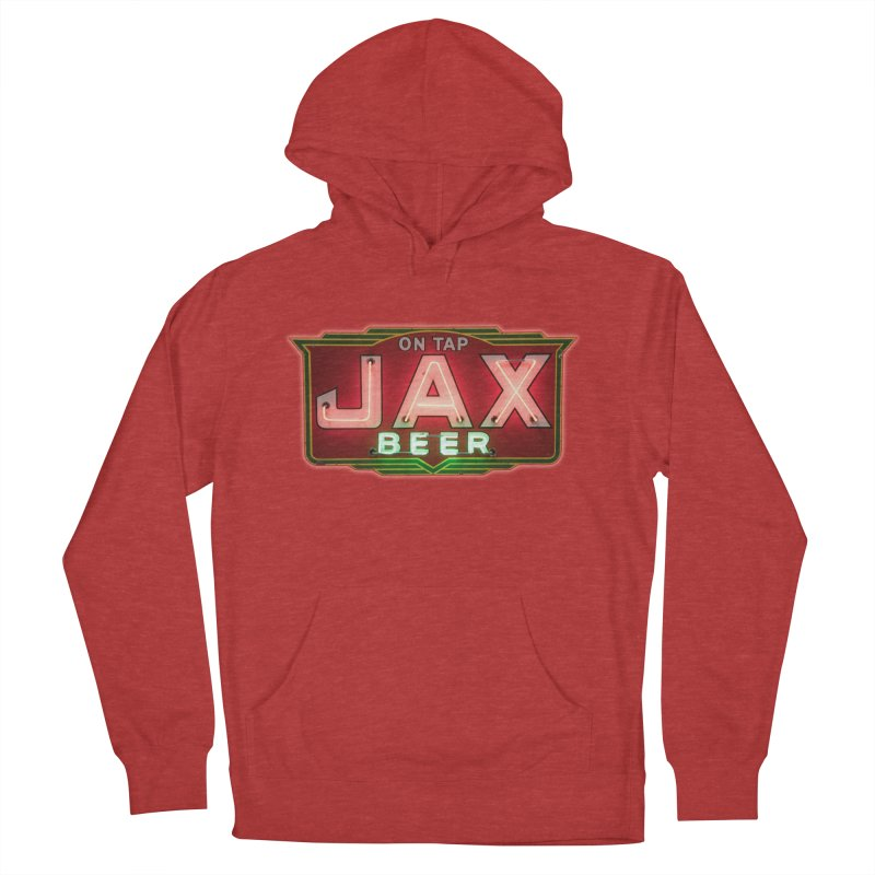 Jax Beer on Tap Vintage Neon Sign Jackson Brewery New Orleans Brewerania Men's French Terry Pullover Hoody by Fringe Walkers Shirts n Prints