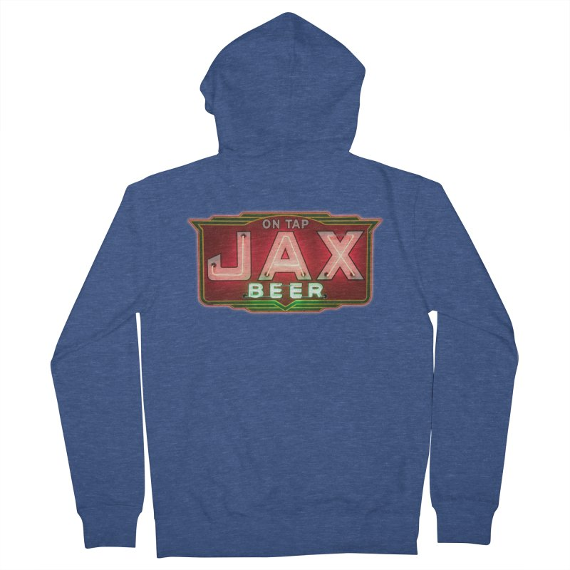 Jax Beer on Tap Vintage Neon Sign Jackson Brewery New Orleans Brewerania Women's Zip-Up Hoody by Fringe Walkers Shirts n Prints