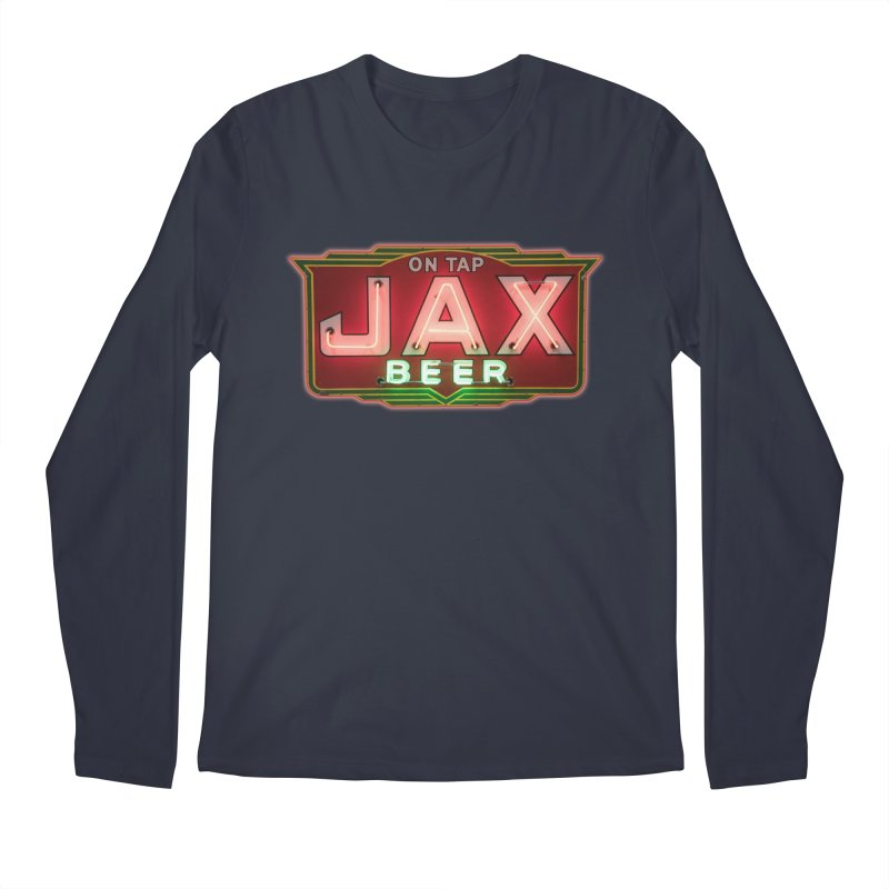Jax Beer on Tap Vintage Neon Sign Jackson Brewery New Orleans Brewerania Men's Longsleeve T-Shirt by Fringe Walkers Shirts n Prints