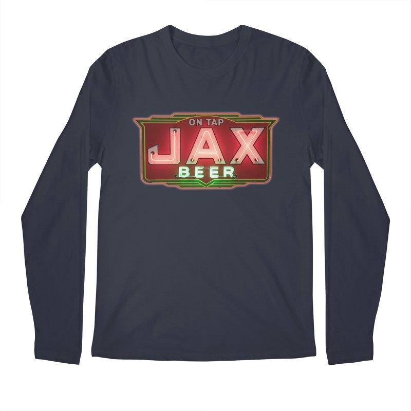 Jax Beer on Tap Vintage Neon Sign Jackson Brewery New Orleans Brewerania Men's Regular Longsleeve T-Shirt by Fringe Walkers Shirts n Prints