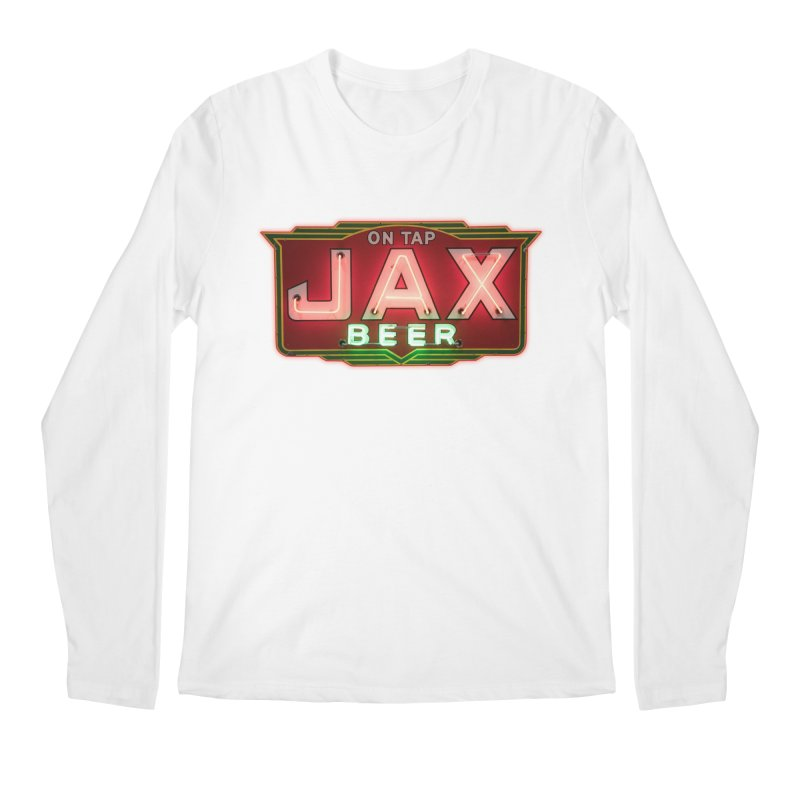 Jax Beer on Tap Vintage Neon Sign Jackson Brewery New Orleans Brewerania Men's Regular Longsleeve T-Shirt by Fringe Walkers Shirts n Prints