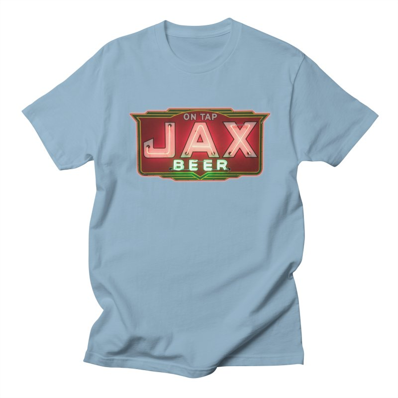 Jax Beer on Tap Vintage Neon Sign Jackson Brewery New Orleans Brewerania Women's Regular Unisex T-Shirt by Fringe Walkers Shirts n Prints