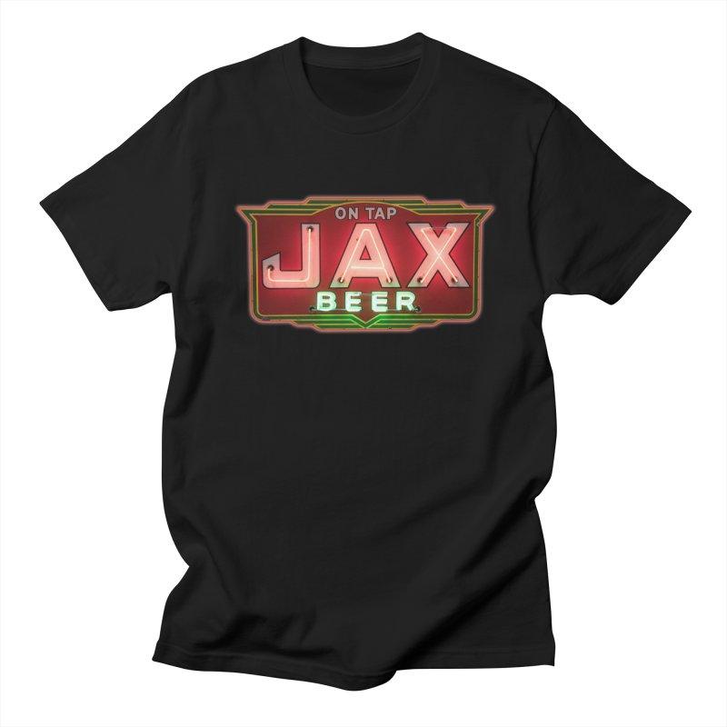 Jax Beer on Tap Vintage Neon Sign Jackson Brewery New Orleans Brewerania Men's Regular T-Shirt by Fringe Walkers Shirts n Prints