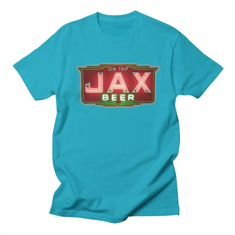 Jax Beer on Tap Vintage Neon Sign Jackson Brewery New Orleans Brewerania Men's T-Shirt by Fringe Walkers Shirts n Prints