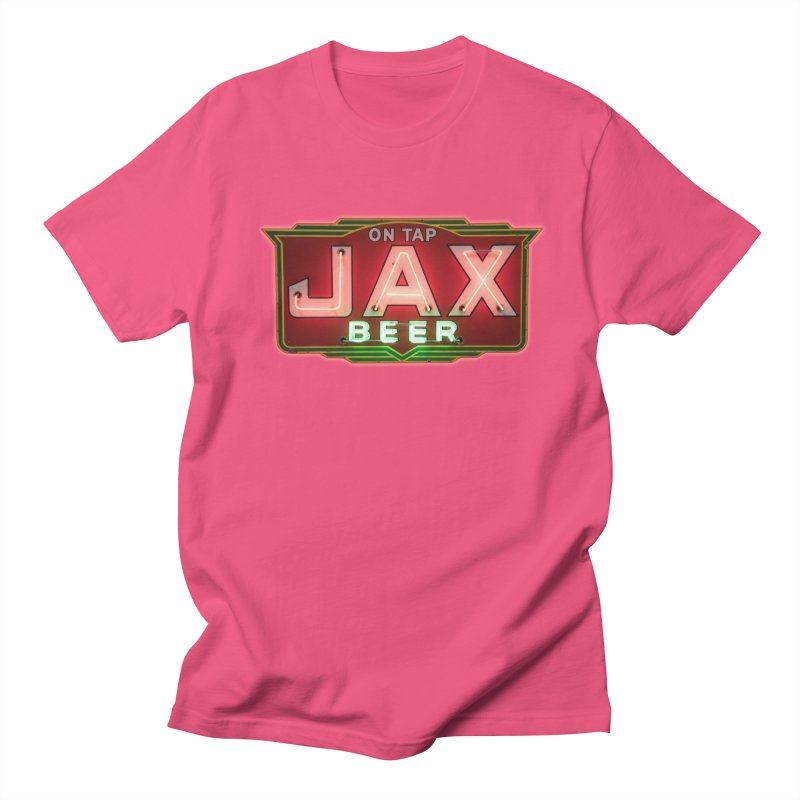 Jax Beer on Tap Vintage Neon Sign Jackson Brewery New Orleans Brewerania Men's Regular T-Shirt by Fringe Walkers Shirts n Prints