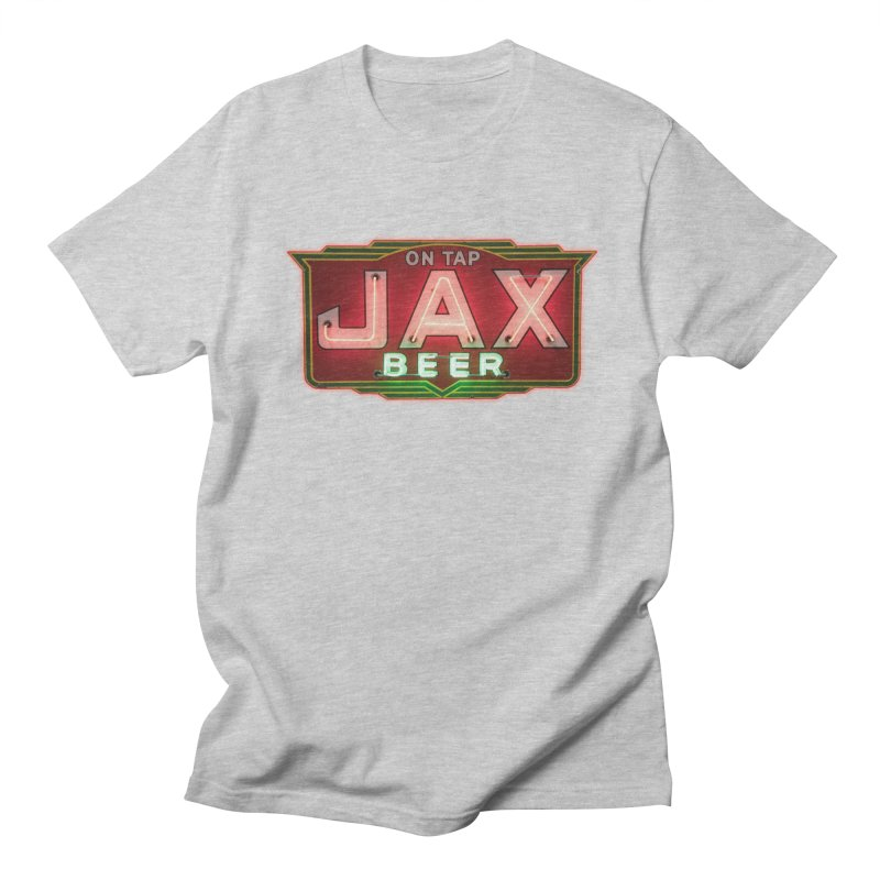 Jax Beer on Tap Vintage Neon Sign Jackson Brewery New Orleans Brewerania Women's Unisex T-Shirt by Fringe Walkers Shirts n Prints