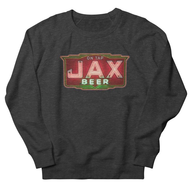 Jax Beer on Tap Vintage Neon Sign Jackson Brewery New Orleans Brewerania Men's Sweatshirt by Fringe Walkers Shirts n Prints
