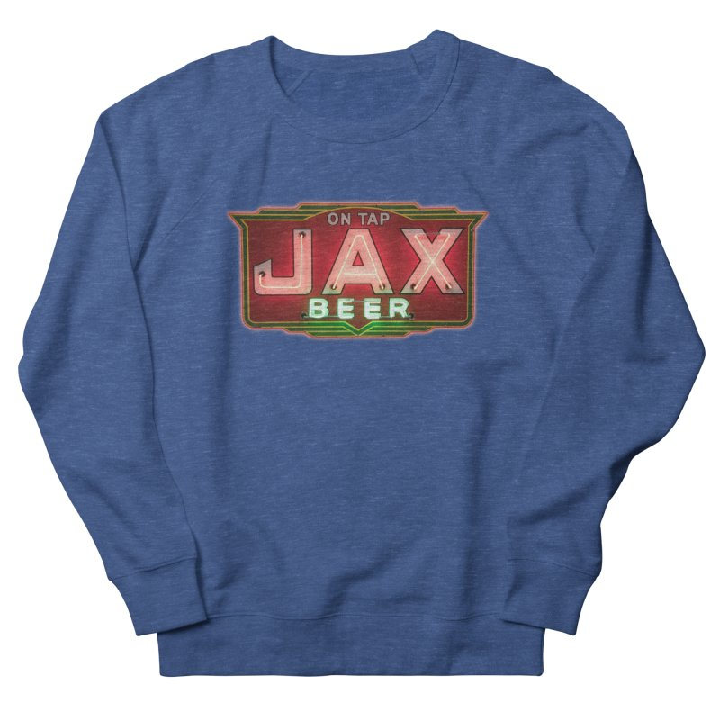 Jax Beer on Tap Vintage Neon Sign Jackson Brewery New Orleans Brewerania Men's Sweatshirt by Fringe Walkers Shirts n Prints
