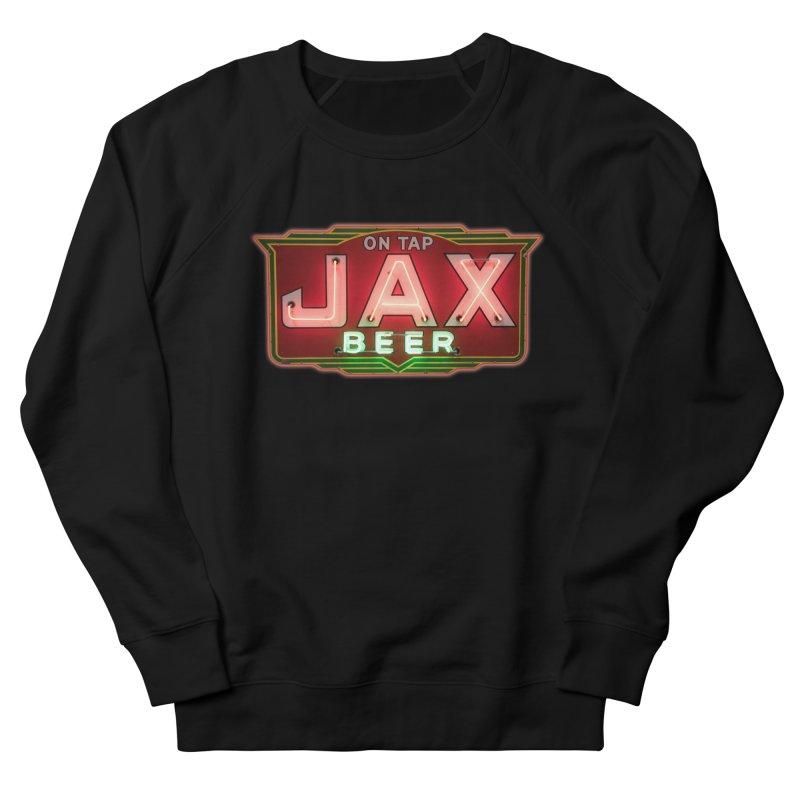 Jax Beer on Tap Vintage Neon Sign Jackson Brewery New Orleans Brewerania Men's French Terry Sweatshirt by Fringe Walkers Shirts n Prints