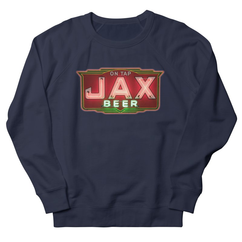 Jax Beer on Tap Vintage Neon Sign Jackson Brewery New Orleans Brewerania Men's French Terry Sweatshirt by Fringe Walkers Shirts n Prints