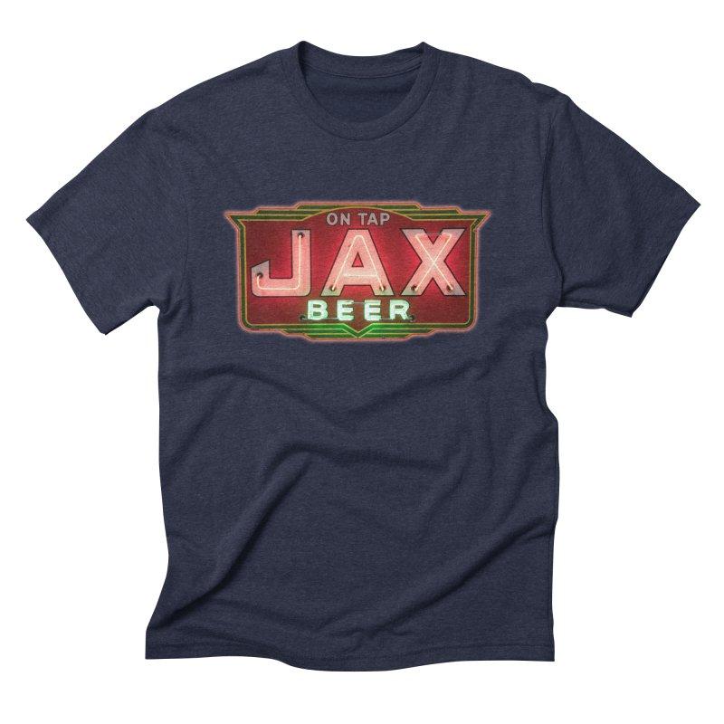 Jax Beer on Tap Vintage Neon Sign Jackson Brewery New Orleans Brewerania Men's Triblend T-Shirt by Fringe Walkers Shirts n Prints