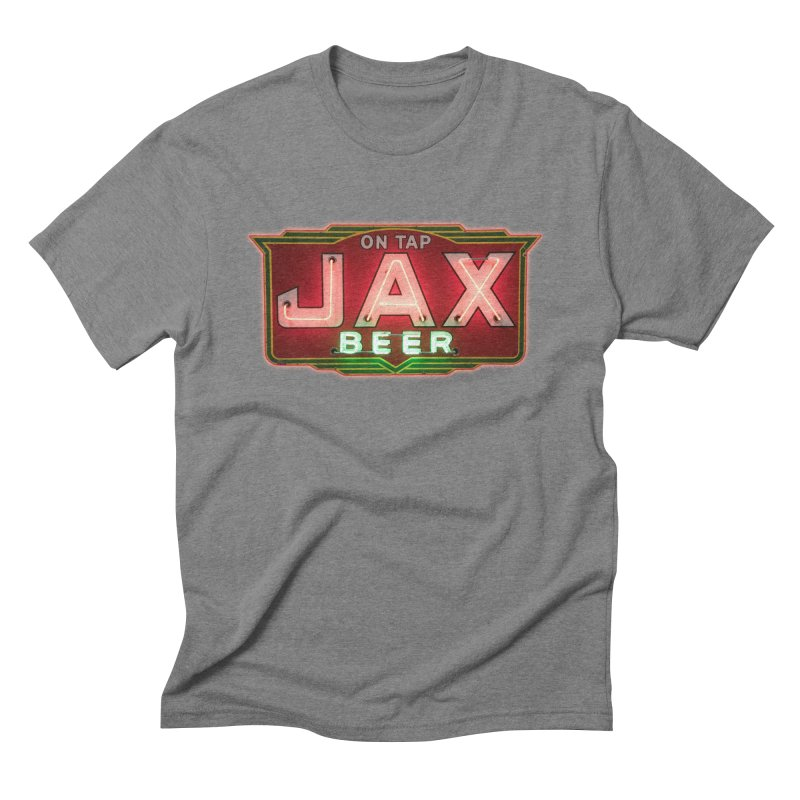Jax Beer on Tap Vintage Neon Sign Jackson Brewery New Orleans Brewerania Men's Triblend T-Shirt by Fringe Walkers Shirts n Prints