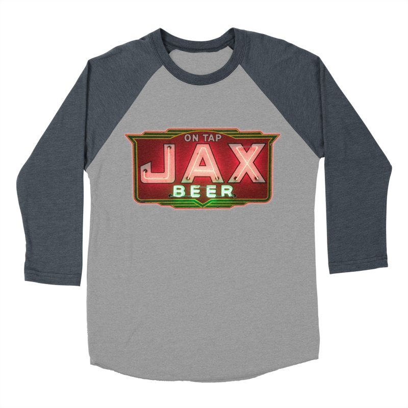 Jax Beer on Tap Vintage Neon Sign Jackson Brewery New Orleans Brewerania Women's Baseball Triblend T-Shirt by Fringe Walkers Shirts n Prints