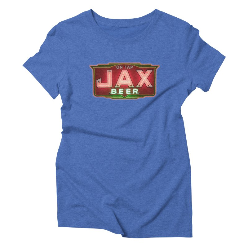 Jax Beer on Tap Vintage Neon Sign Jackson Brewery New Orleans Brewerania Women's Triblend T-Shirt by Fringe Walkers Shirts n Prints