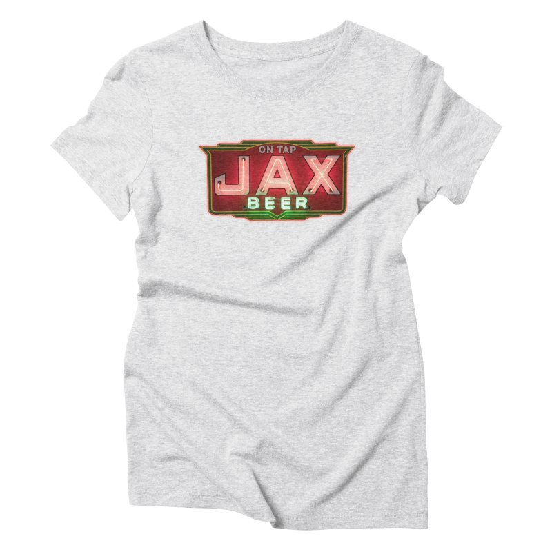 Jax Beer on Tap Vintage Neon Sign Jackson Brewery New Orleans Brewerania Women's T-Shirt by Fringe Walkers Shirts n Prints