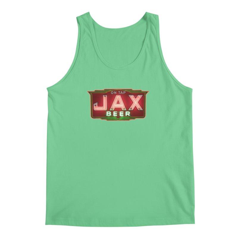 Jax Beer on Tap Vintage Neon Sign Jackson Brewery New Orleans Brewerania Men's Regular Tank by Fringe Walkers Shirts n Prints