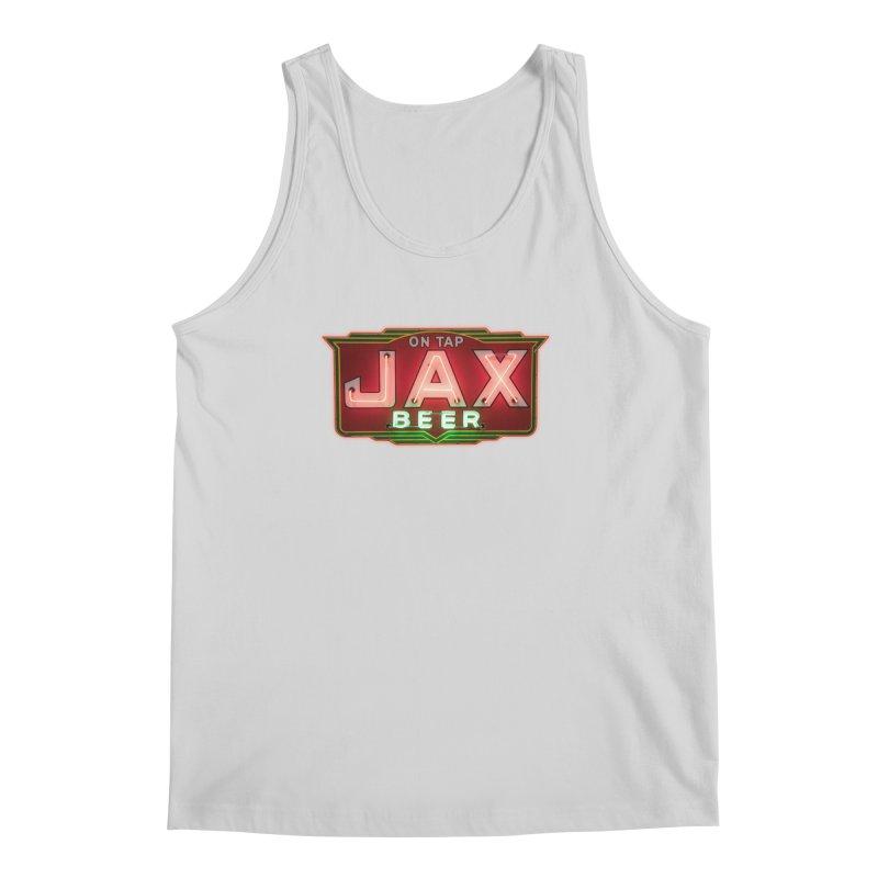 Jax Beer on Tap Vintage Neon Sign Jackson Brewery New Orleans Brewerania Men's Tank by Fringe Walkers Shirts n Prints