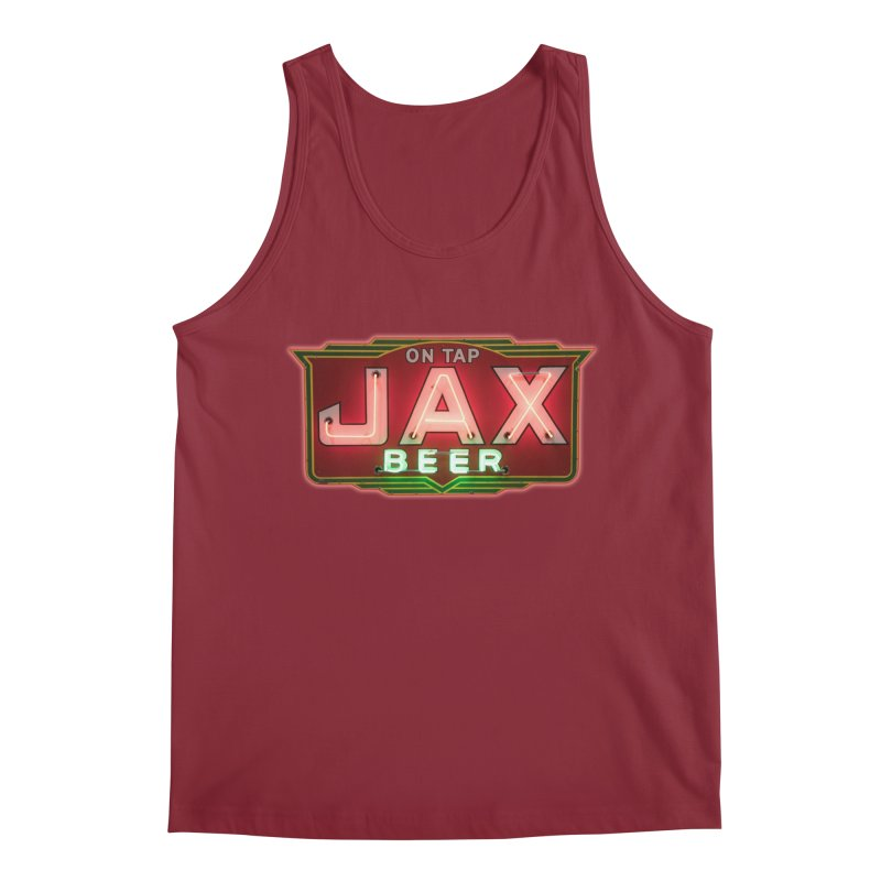 Jax Beer on Tap Vintage Neon Sign Jackson Brewery New Orleans Brewerania Men's Regular Tank by Fringe Walkers Shirts n Prints