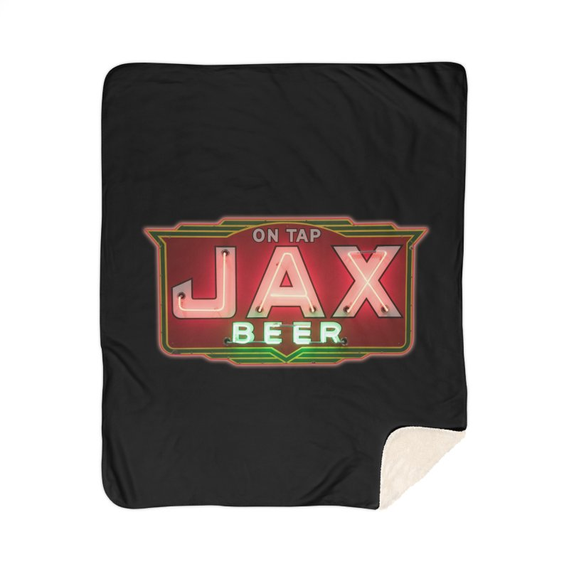 Jax Beer on Tap Vintage Neon Sign Jackson Brewery New Orleans Brewerania Home Sherpa Blanket Blanket by Fringe Walkers Shirts n Prints