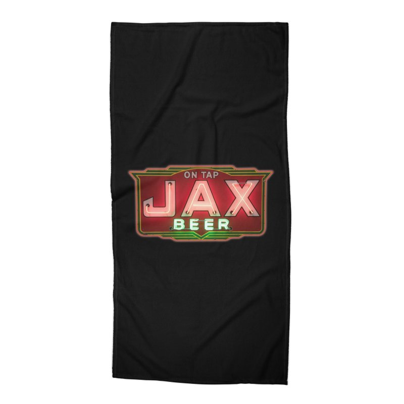 Jax Beer on Tap Vintage Neon Sign Jackson Brewery New Orleans Brewerania Accessories Beach Towel by Fringe Walkers Shirts n Prints