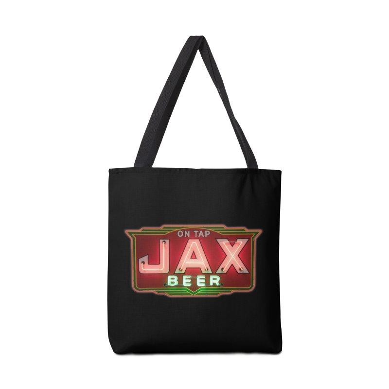Jax Beer on Tap Vintage Neon Sign Jackson Brewery New Orleans Brewerania Accessories Bag by Fringe Walkers Shirts n Prints