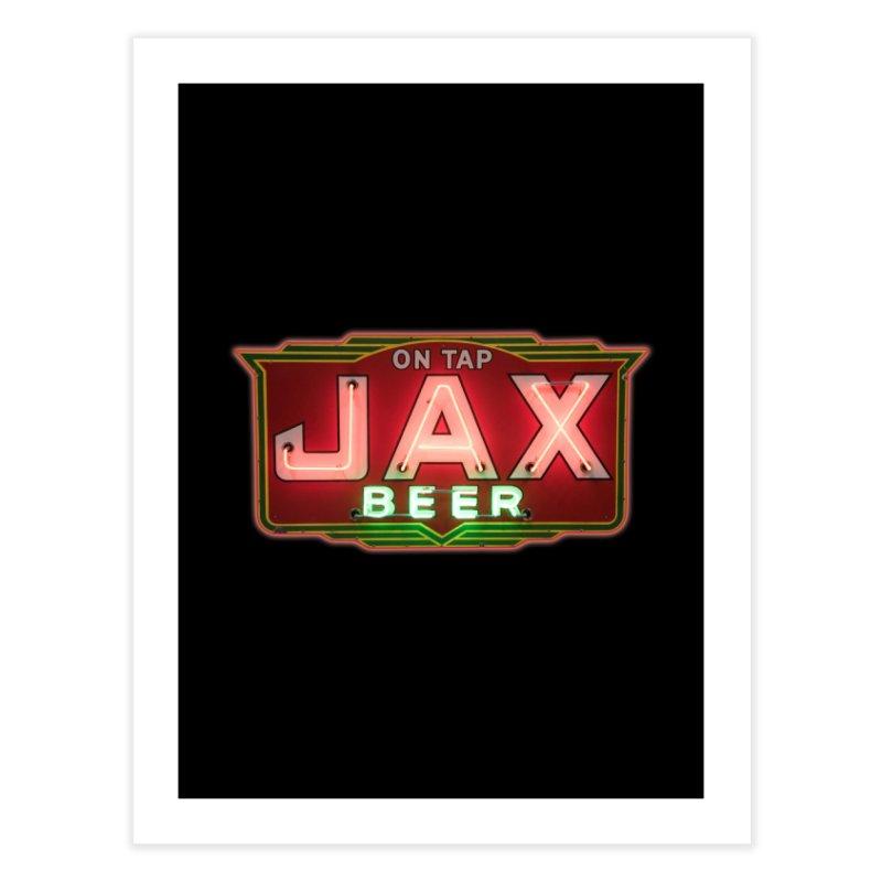 Jax Beer on Tap Vintage Neon Sign Jackson Brewery New Orleans Brewerania Home Fine Art Print by Fringe Walkers Shirts n Prints