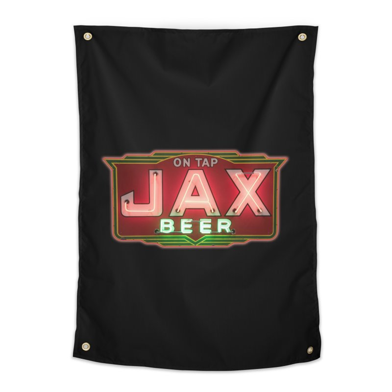 Jax Beer on Tap Vintage Neon Sign Jackson Brewery New Orleans Brewerania Home Tapestry by Fringe Walkers Shirts n Prints