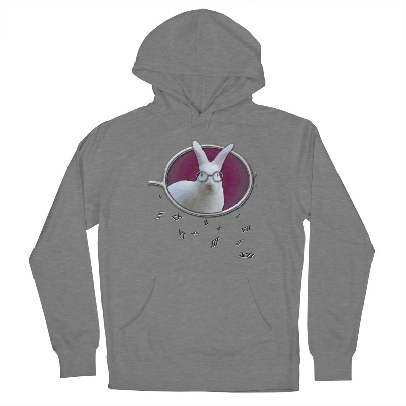White Rabbit Round Glasses Tunnel Reflection Clock Explosion Key Numerals Time is Relative Women's Pullover Hoody by Fringe Walkers Shirts n Prints