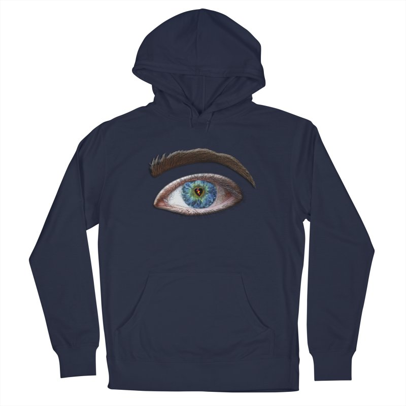 When you see the world through a broken heart Blue Green eye sadness empathy humanism love Men's Pullover Hoody by Fringe Walkers Shirts n Prints