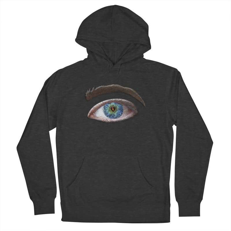 When you see the world through a broken heart Blue Green eye sadness empathy humanism love Women's French Terry Pullover Hoody by Fringe Walkers Shirts n Prints