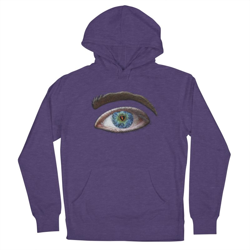 When you see the world through a broken heart Blue Green eye sadness empathy humanism love Women's Pullover Hoody by Fringe Walkers Shirts n Prints