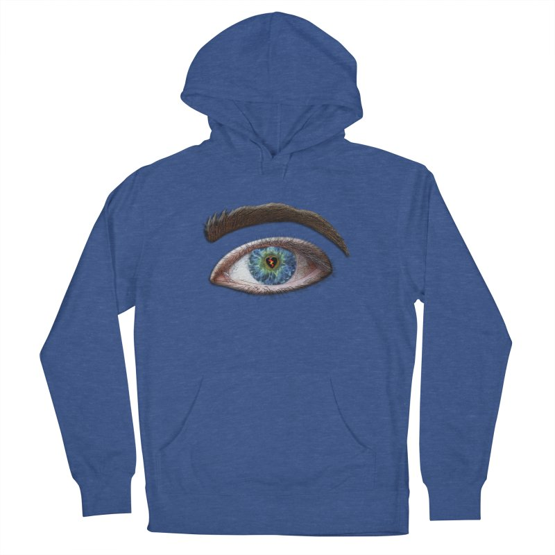 When you see the world through a broken heart Blue Green eye sadness empathy humanism love Men's French Terry Pullover Hoody by Fringe Walkers Shirts n Prints