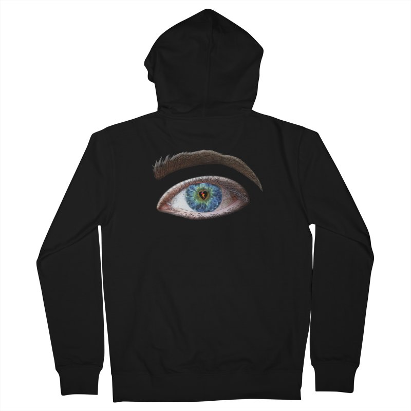 When you see the world through a broken heart Blue Green eye sadness empathy humanism love Women's Zip-Up Hoody by Fringe Walkers Shirts n Prints
