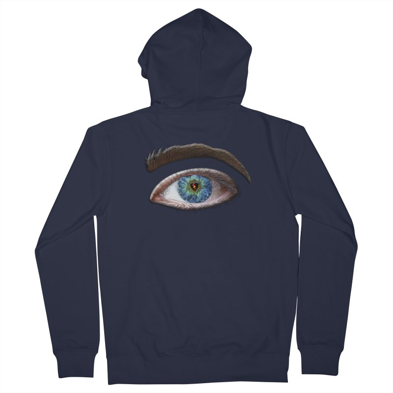 When you see the world through a broken heart Blue Green eye sadness empathy humanism love Women's French Terry Zip-Up Hoody by Fringe Walkers Shirts n Prints