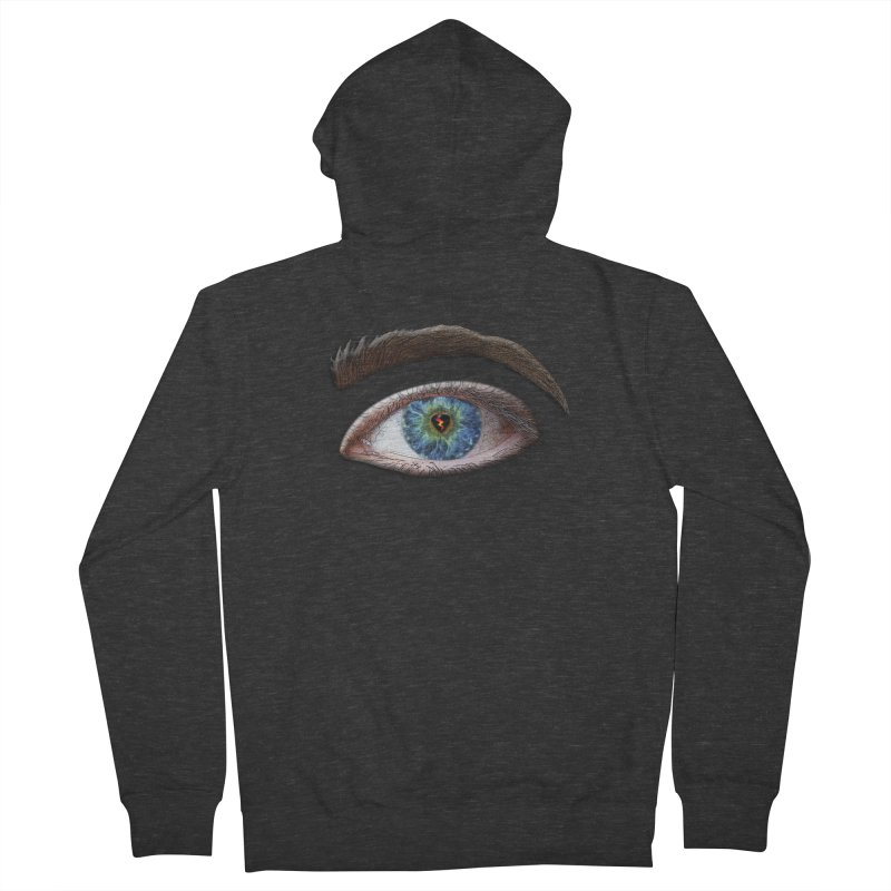 When you see the world through a broken heart Blue Green eye sadness empathy humanism love Men's Zip-Up Hoody by Fringe Walkers Shirts n Prints