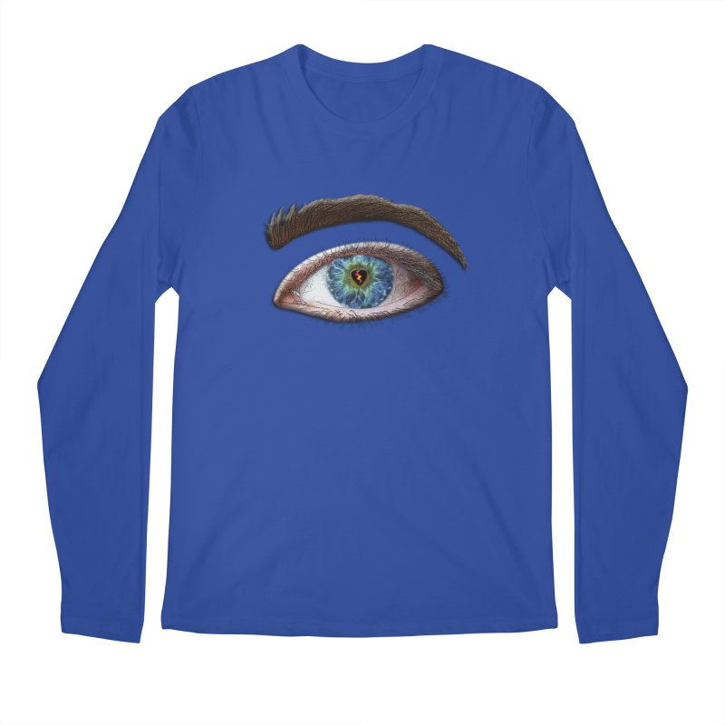 When you see the world through a broken heart Blue Green eye sadness empathy humanism love Men's Regular Longsleeve T-Shirt by Fringe Walkers Shirts n Prints
