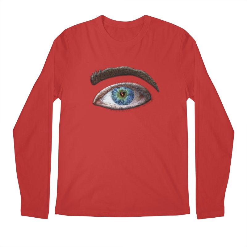 When you see the world through a broken heart Blue Green eye sadness empathy humanism love Men's Regular Longsleeve T-Shirt by Fringe Walkers Shirts n Prints