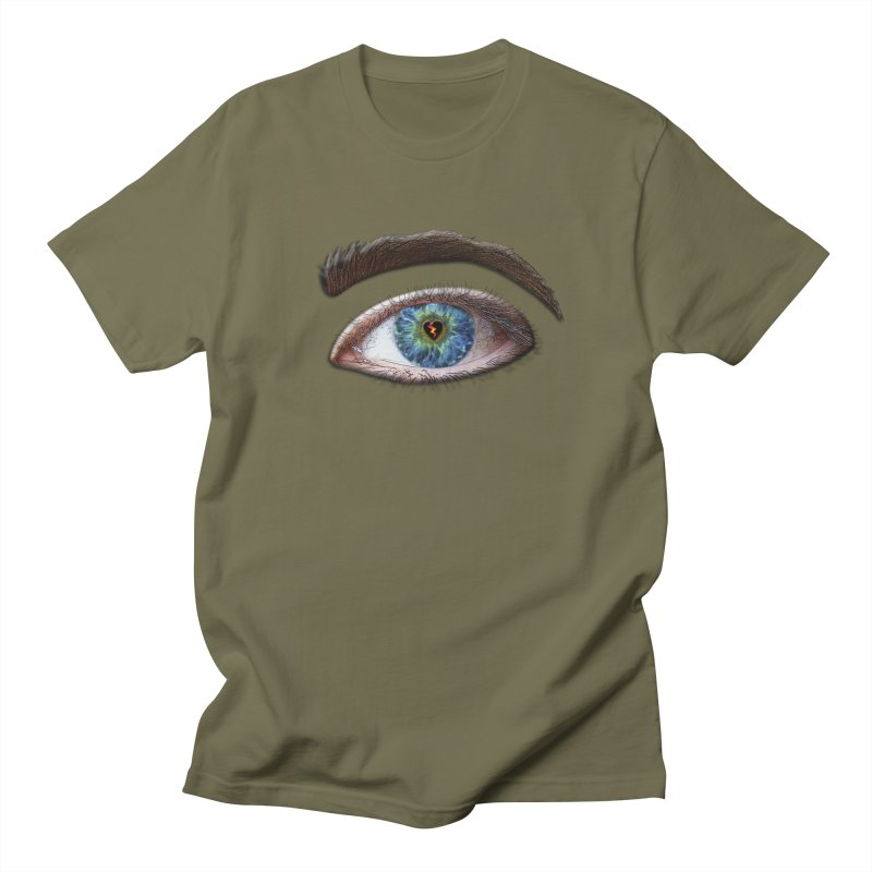 When you see the world through a broken heart Blue Green eye sadness empathy humanism love Men's Regular T-Shirt by Fringe Walkers Shirts n Prints