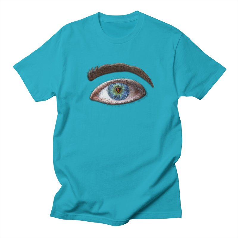 When you see the world through a broken heart Blue Green eye sadness empathy humanism love Women's Unisex T-Shirt by Fringe Walkers Shirts n Prints