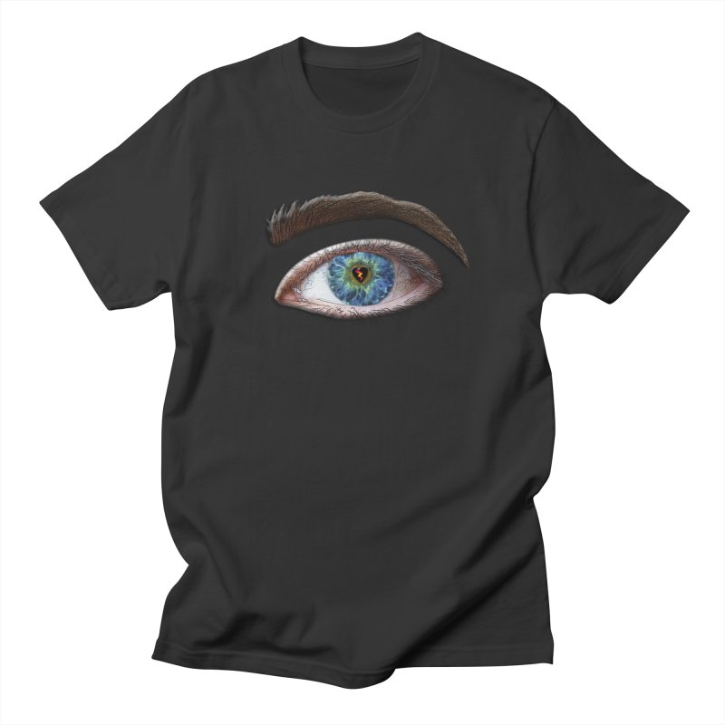 When you see the world through a broken heart Blue Green eye sadness empathy humanism love Women's Regular Unisex T-Shirt by Fringe Walkers Shirts n Prints