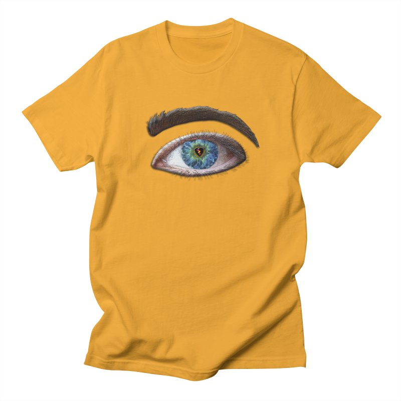 When you see the world through a broken heart Blue Green eye sadness empathy humanism love Men's T-Shirt by Fringe Walkers Shirts n Prints