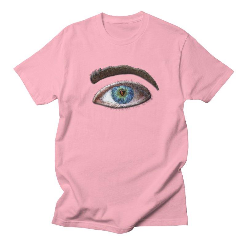 When you see the world through a broken heart Blue Green eye sadness empathy humanism love Men's Regular T-Shirt by Fringe Walkers Shirts n Prints