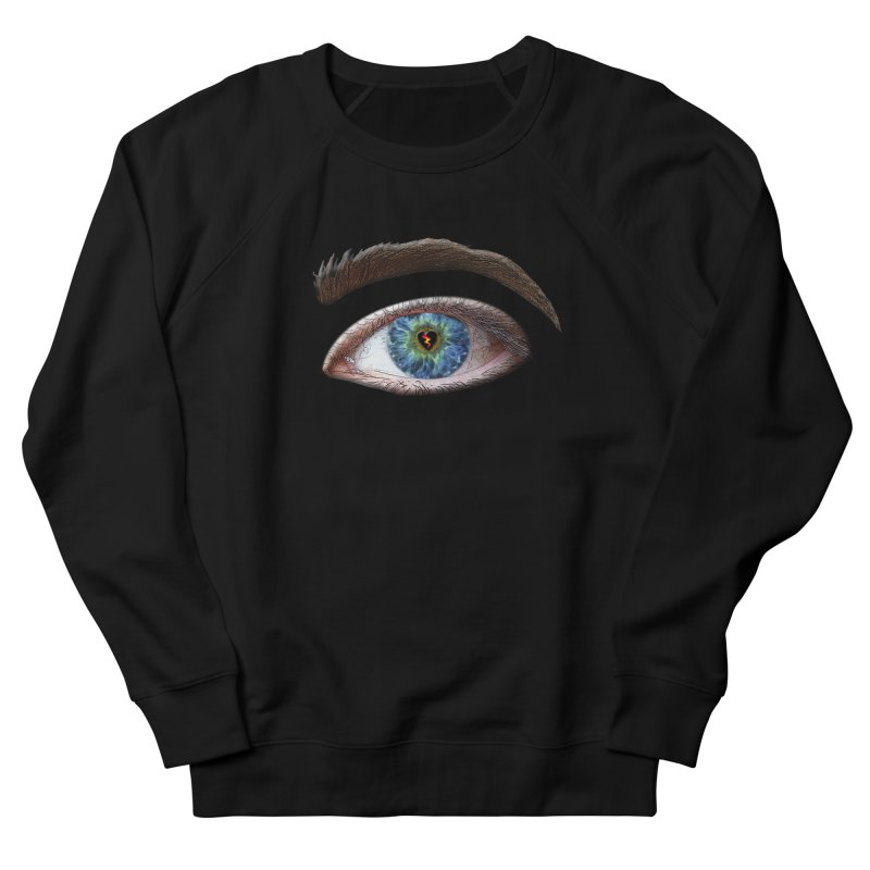 When you see the world through a broken heart Blue Green eye sadness empathy humanism love Women's Sweatshirt by Fringe Walkers Shirts n Prints