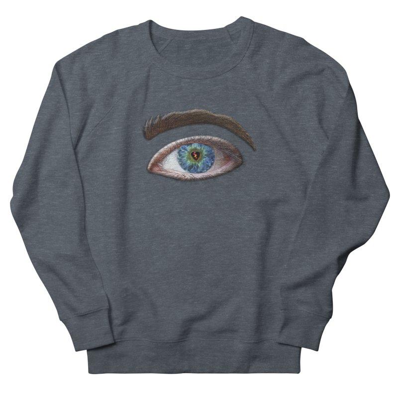 When you see the world through a broken heart Blue Green eye sadness empathy humanism love Men's Sweatshirt by Fringe Walkers Shirts n Prints