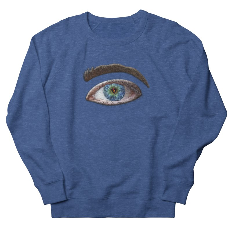When you see the world through a broken heart Blue Green eye sadness empathy humanism love Men's Sweatshirt by Fringe Walkers Shirts n Prints
