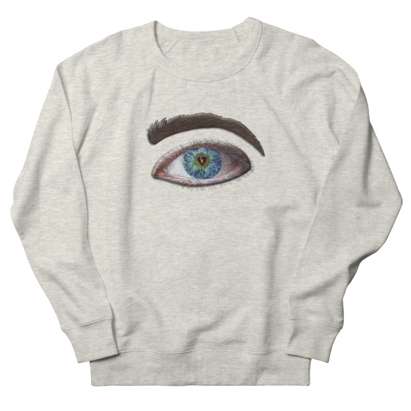 When you see the world through a broken heart Blue Green eye sadness empathy humanism love Men's French Terry Sweatshirt by Fringe Walkers Shirts n Prints