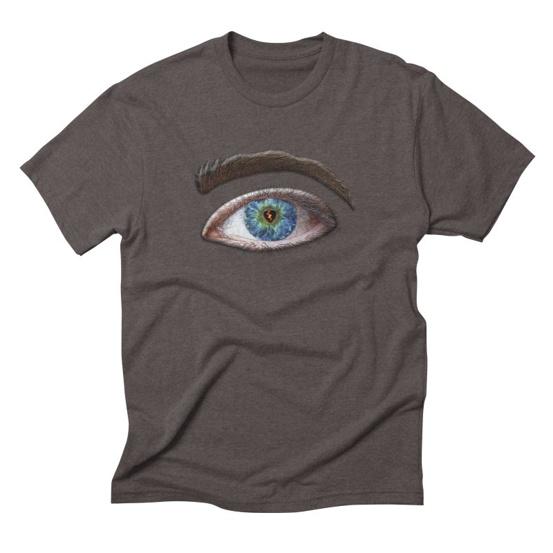 When you see the world through a broken heart Blue Green eye sadness empathy humanism love Men's Triblend T-Shirt by Fringe Walkers Shirts n Prints
