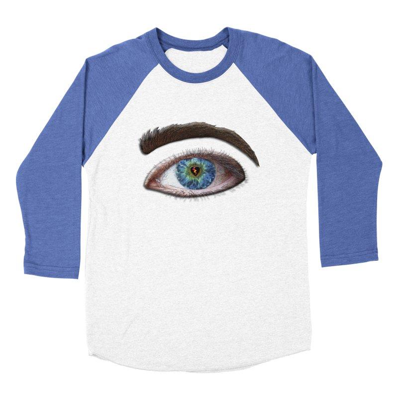 When you see the world through a broken heart Blue Green eye sadness empathy humanism love Women's Baseball Triblend Longsleeve T-Shirt by Fringe Walkers Shirts n Prints