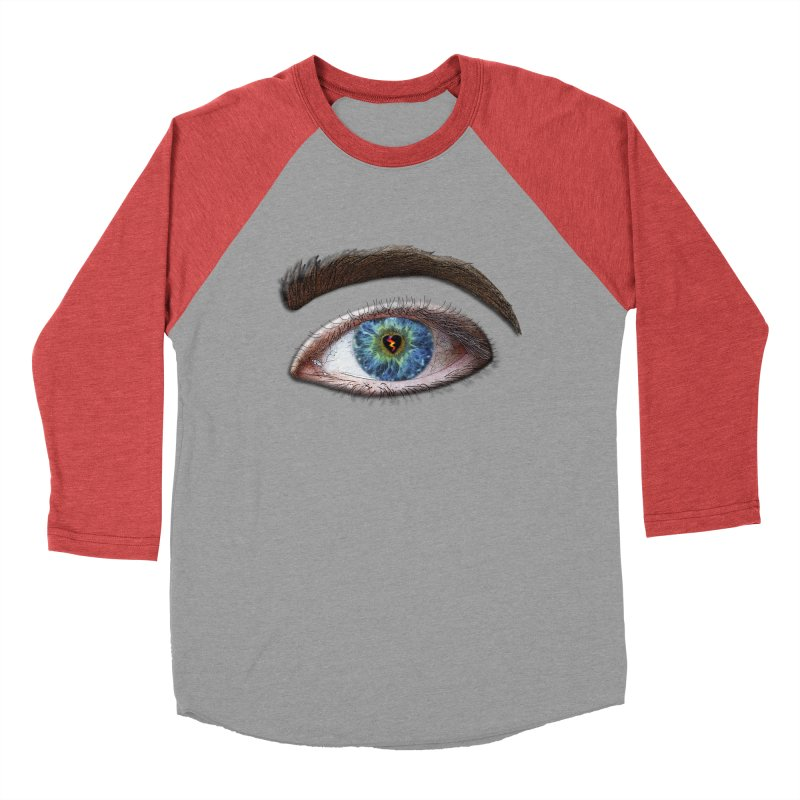 When you see the world through a broken heart Blue Green eye sadness empathy humanism love Women's Baseball Triblend Longsleeve T-Shirt by Fringe Walkers Shirts n Prints