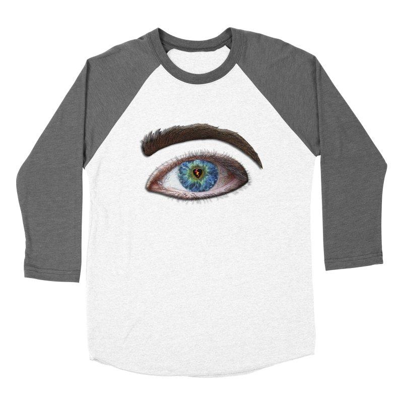 When you see the world through a broken heart Blue Green eye sadness empathy humanism love Men's Baseball Triblend T-Shirt by Fringe Walkers Shirts n Prints